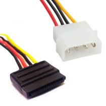 کابل تبدیل برق 4 پین به ساتا 2خروجی کد 1278(1)