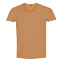 زیر پیراهنی یقه گرد قهوه ای روشن مردانه کد 1264