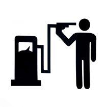 برچسب طرح باک بنزین خودرو کد 1604
