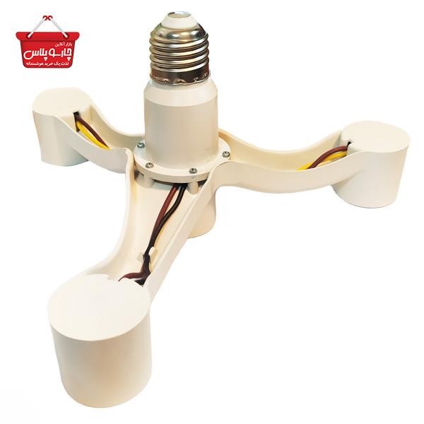 تبدیل سرپیچ لامپ ۱ به 4 حنا الکترونیک کد 1601