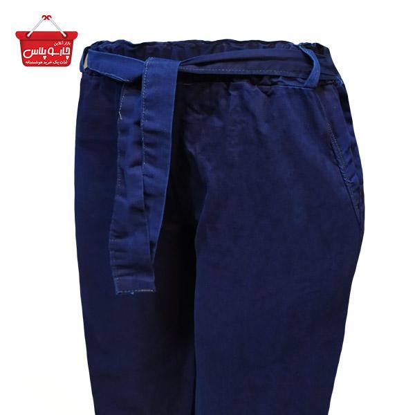 شلوار بگ طرح لی زنانه آبی کاربنی کد 1113