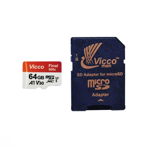 کارت حافظه microSDXC ویکومن مدل Final 600x Plus کلاس 10 استاندارد UHS-I U3 ظرفیت 64 گیگابایت