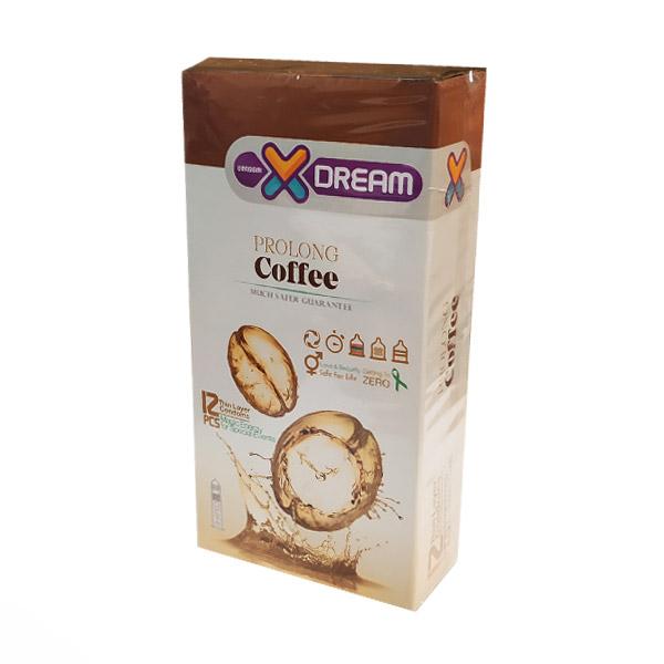 کاندوم X DREAM مدل Prolong coffee بسته 12 عددی
