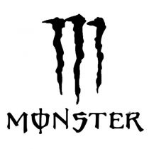 برچسب بدنه خودرو طرح پنجه monster کد 1620